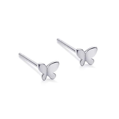 Pendientes de mariposa para mujer, aretes de mariposa minimalistas para mujer, aretes delicados, hipoalergénicos para mujeres, orejas sensibles