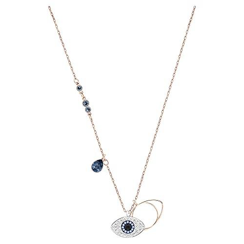 Swarovski Colgante Swarovski Symbolic Evil Eye, azul, Combinación de acabados metálicos
