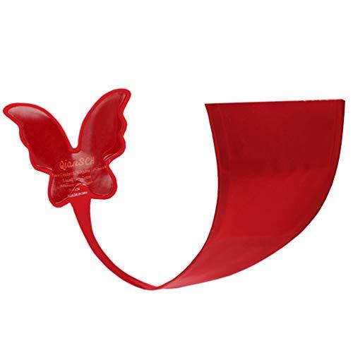 Valiclud - Tanga sin tirantes para mujer, con forma de mariposa y con adhesivo sin ropa interior, sexy, micro espalda, bragas rojo L