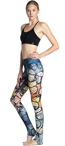 ArcherWlh Yoga Pantalones,Caderas Delgadas de Las Mujeres Coloridas Mariposa Deportes Transpirables Quick Dry Nine Points Pantalones de Yoga Yoga-yoga-0017_S