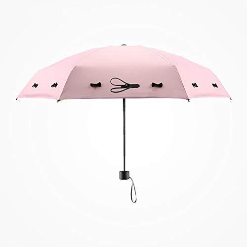 Paraguas de viaje, 8 varillas, nudo de mariposa, resistente, portátil, construcción de acero inoxidable, paraguas impermeable plegable de secado rápido para mujeres, hombres, niños y niños, A LKWK