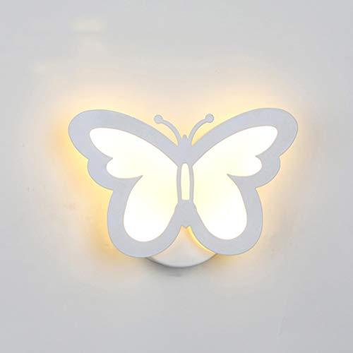 LEDMOMO Lámpara de pared moderna del LED, iluminación creativa de la pared de la mariposa 12W para el blanco caliente de la decoración del vestíbulo del cuarto de baño