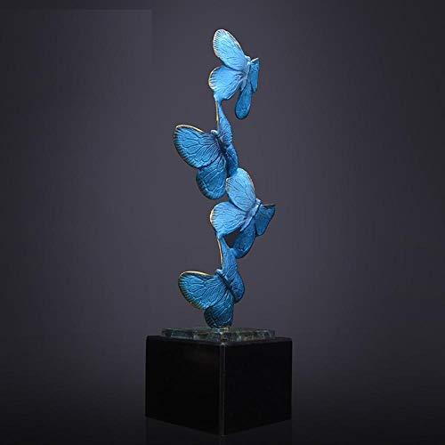 ZTIANEF Escultura de Bronce Mariposa Adornos de Animales Sala de Estar Estudio decoración Manualidades Regalo-A_15 * 15 * 50 CM