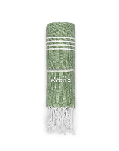 LeStoff - Toalla de algodón orgánico con Certificado Gots. Ligero y Ultra Absorbente. Olive 95 x 180 cm