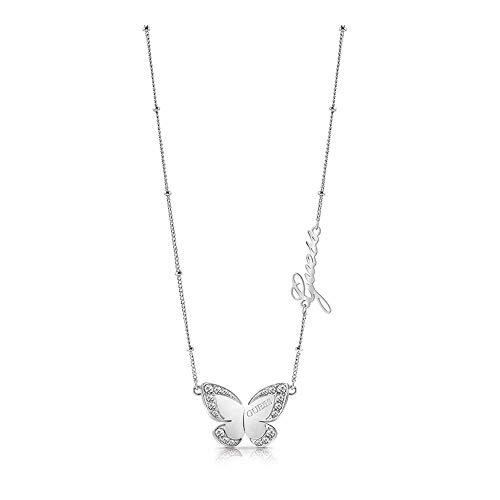 Gargantilla Guess Love Butterfly acero inoxidable quirúrgico 36cm. chapado rodio UBN78024 [AC1139]
