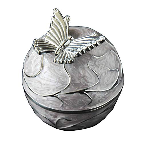 Joyero Joyero De Mariposa Caja Organizadora De Joyería De Metal De Aleación De Zinc con Forro De Terciopelo Negro Exquisita Caja De Regalo de joyería