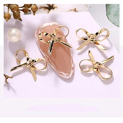 Mjspb 10 unids Mariposa Flor Amor Tassel Zircon Cristales Rhinestones joyería Decoraciones de uñas Clavos Accesorios encantos Suministros (Size : 4)