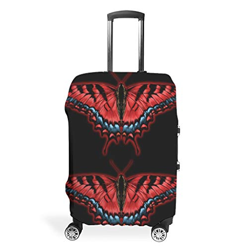 Funda protectora para equipaje de viaje con diseño de mariposas, White (Blanco) - Muerlinanajj768