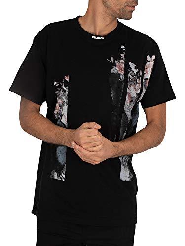 Religion Butterfly tee Camiseta, Negro (Black 001), S para Hombre