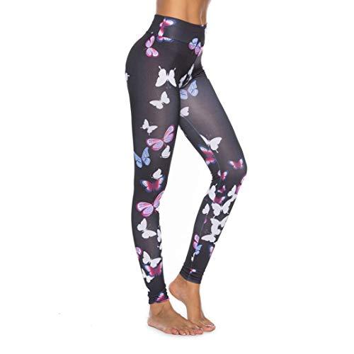 Notdark Medias Deportivas Entrenamiento Estilo Para Leggings Mujer Mariposa Simple Fitness Yoga Pantalones Pantalones Para Correr Medias Pantalones De Chándal ( Color : Mehrfarbig , One Size : M )