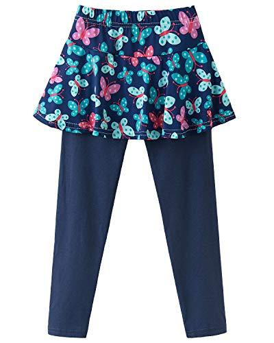Adorel Leggings con Falda Pantalones Largos para Niñas Mariposa 7-8 Años (Tamaño del Fabricante 140)