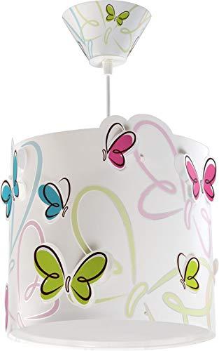 Dalber Butterfly Lámpara Colgante E27, Blanco
