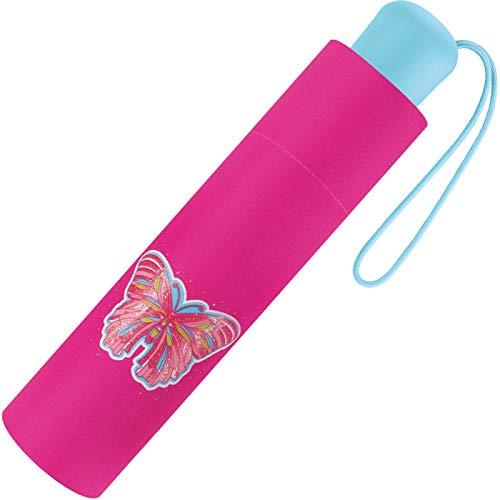 Scout - Paraguas de bolsillo para niños, con grandes superficies reflectantes, muy ligeras, mariposa