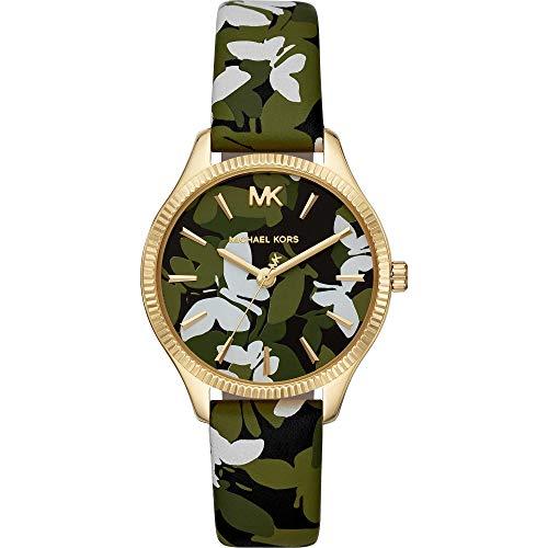 Michael Kors Reloj Analógico para Mujer de Cuarzo con Correa en Cuero MK2811