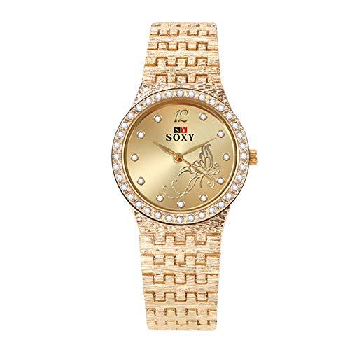 Reloj de Mujer Nuevos Relojes de Pulsera para Mujer Moda Rhinestone Relojes para Mujer Flor Mariposa Exquisito Reloj Casual para Mujer Reloj para Mujer
