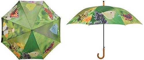 Esschert Design Paraguas Mariposas 120 cm Sombrilla Parasol Cubierta Protector