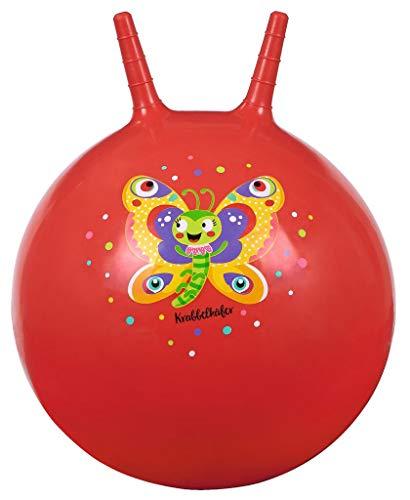 moses-Pelota saltadora con diseño de Mariposa, Color Rojo, para niños a Partir de 4 años, Juguete de Interior y Exterior para Sentarse y Saltar, (16129)