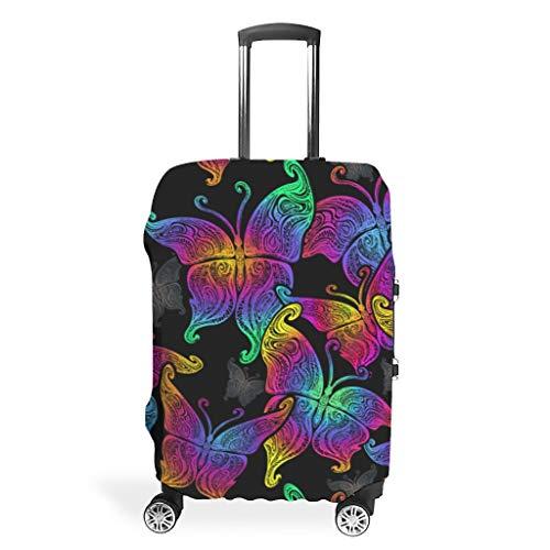 Funda para equipaje con estampado de mariposas, color blanco l (66 x 96 cm)