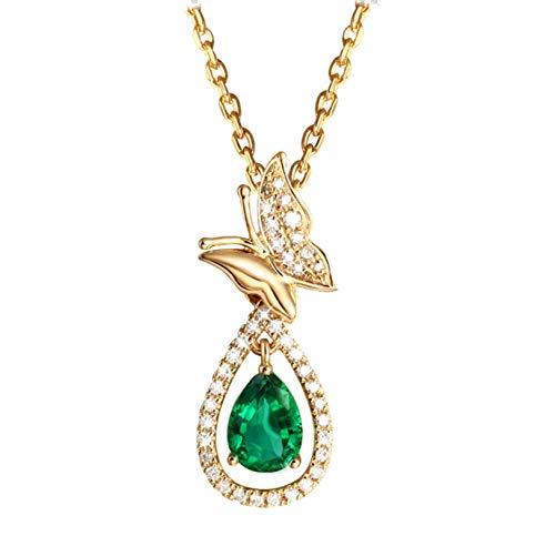 Blisfille Colgante de Rubelita Diamante de 2ct Joyería Collar para Boda Collar 18K