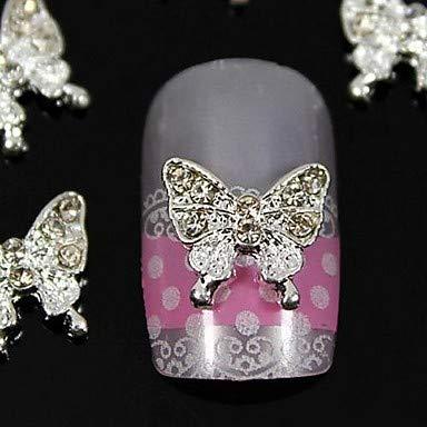 HYLH 10 Piezas de Accesorios de joyería de Diamantes de imitación de Mariposa de Belleza para Puntas de Dedos decoración de Arte de uñas