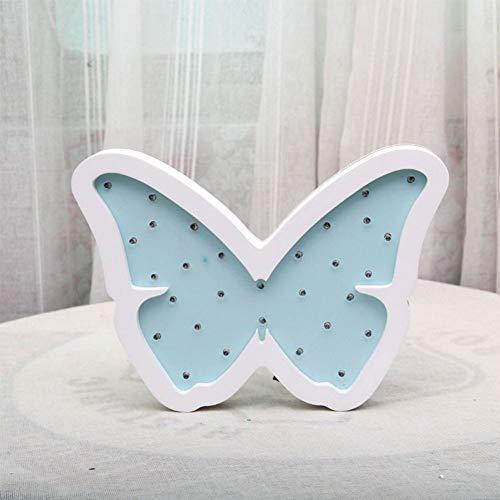 Mariposa Luz Nocturna, KEEDA Infantil Nocturna Lámparas de Pared, LED Madera Decorativas Lámpara de Mesa para Navidad, Dormitorio,Habitación Bebé