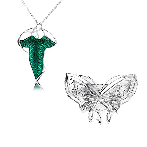 YouU Broche de Mariposa Arwen Evening Star con Alfiler, el Hobbit, Broche de Mariposa El Señor de los Anillos