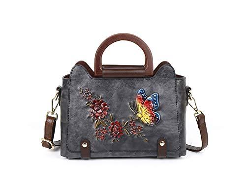 La nueva serie en relieve de los bolsos de la flor del amor de la mariposa con un solo hombro en diagonal, en la parte superior, en relieve de cuero, adecuado para ir de compras, ir de compras, citas