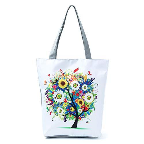 Fablcrew - Bolso de Playa con Cremallera para Mujer, diseño de Mariposa, Bolso de Compra, Bandolera