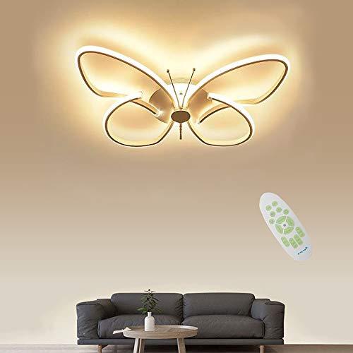 Moderna LED Lámpara De Techo, 3000~6000k Regulable, Luces de Techo De Panel Acrílico de Mariposa Creativa, Luz De Techo De Aluminio Para Sala de Estar, Cocina, Habitación De Niños, Dormitorio, Etc.