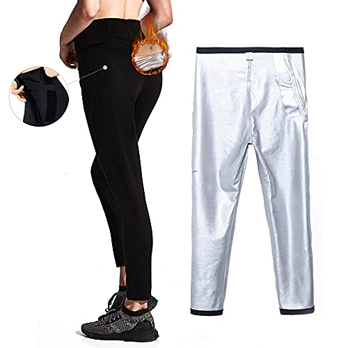 Moonssy Pantalones de Sauna Adelgazantes Mujer NANOTECNOLOGÍA, Leggins Reductores Adelgazantes, Leggins Anticeluliticos Cintura Alta, Mallas Fitness Push Up para Deporte Running Yoga Gym (M)