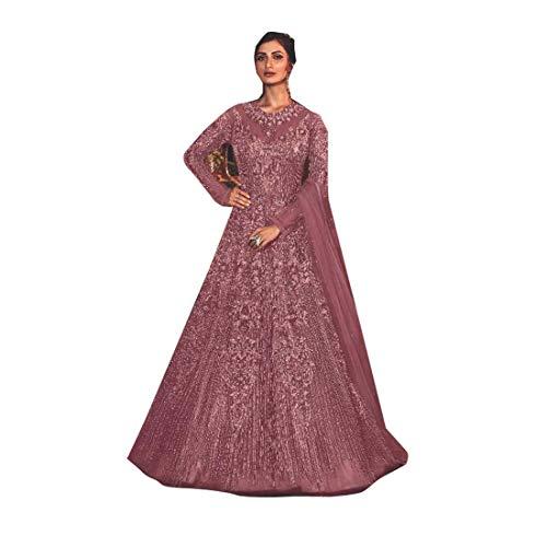 PINKKART Diseñador de las Mujeres Mariposa Vestido de Red de Seda Suave Fondo Dupatta Vestido de Boda 5281 w