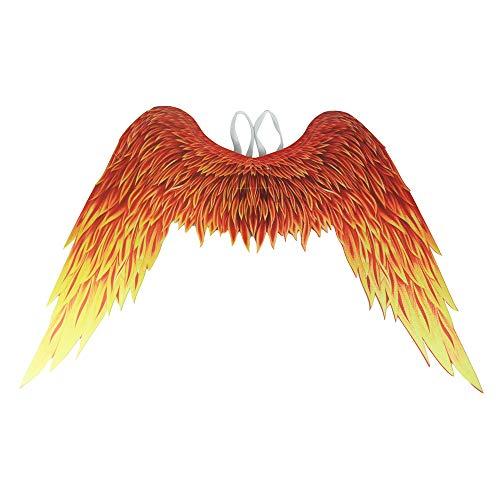 N \ A Grandes alas de ángel Phoenix para Fiesta Festiva de Carnaval de Adultos - Alas de Disfraz de Llama Plegables - Alas Decorativas para Hombres y Mujeres, 31.5 * 41.3 Pulgadas