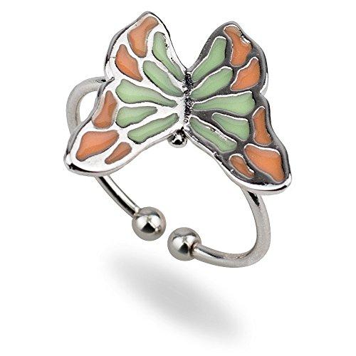 JOE COOL Anillo Cloisonne Mariposa Fabricado con aleación de estaño