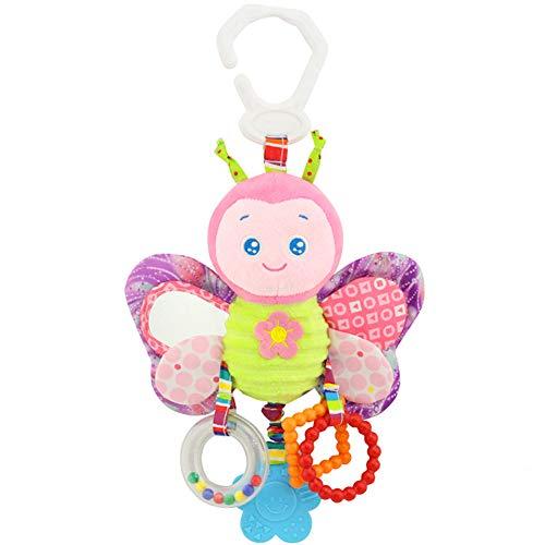 Rrunzfon Felpa del bebé del Coche de bebé del Cochecito Cochecito Cuna Juego Juguete Colgante del Interactivo y Educativo Juguete de la Mariposa