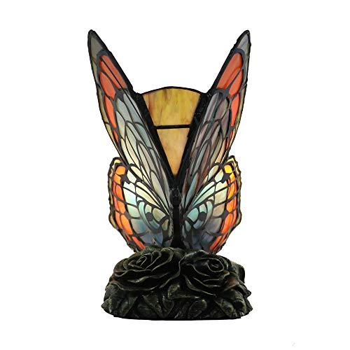 Tokira Luces de mariposa de cristal tintado Tiffany, lámparas de mesa de noche, lámparas de escritorio, luces de regalo, luces ambientales, bares, decoración