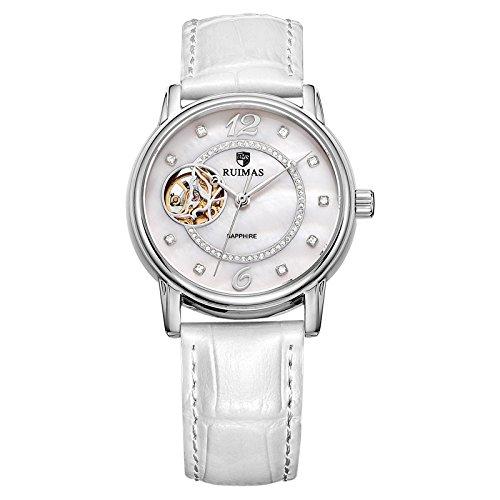 Reloj moda mariposa reloj mecánico automático , white 2