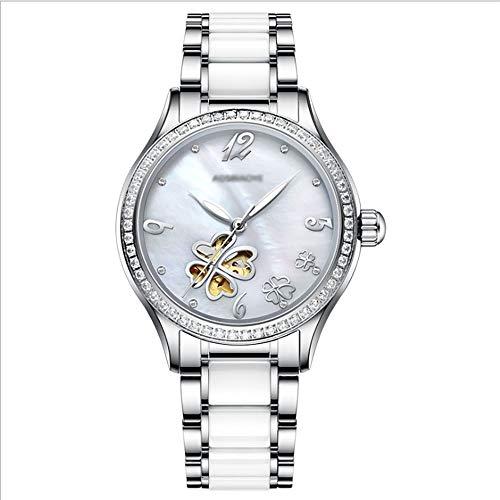 GAO-bo Reloj For Mujer Reloj Mecánico Automático Cierre De Mariposa Luminoso Elegante Y Exquisito Reloj Mecánico For Mujer Resistente Al Agua hasta 50 M Mujer (Color : C)