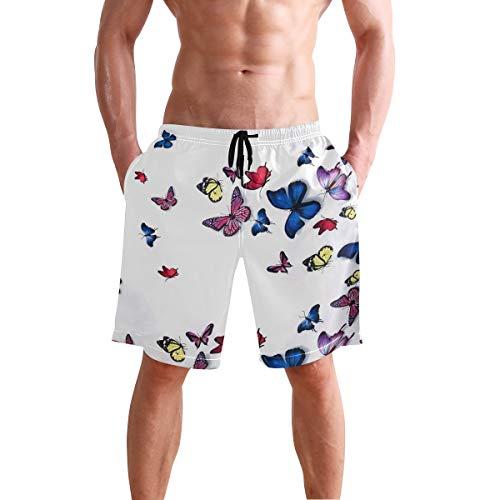 LORONA - Bañador para playa con diseño de mariposa Multicolor multicolor XL