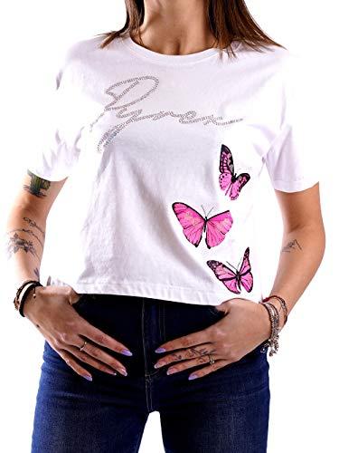 Pyrex Camiseta mujer mariposas mujer blanco mod. 42448 blanco S
