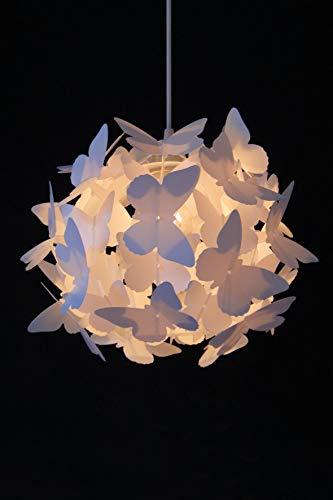 Lámpara de techo con diseño de mariposas para decorar la habitación de los niños.