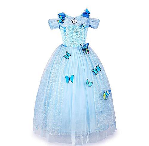 LOYFUN De Halloween Cosplay del Vestido, Disfraz Nuevo Princesa Disfraz Encantador Disfraz de Mariposa Vestido de niñas Medianas y pequeñas (3~8 años, 100~140 cm) (tamaño : M(110-120cm))