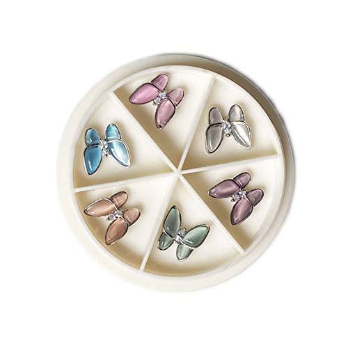 Decoración de arte de uñas - Uñas transparente Joyería tridimensional Super Flash Rhinestone pequeño cristal de diamante de la mariposa del gato de la mariposa de ojos joyería del clavo de la uña Haz