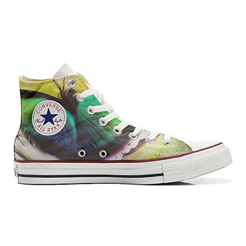 Zapatillas Deportivas Originales Personalizadas (Zapatos artesanales) Mariposa Gris Size: 34 EU