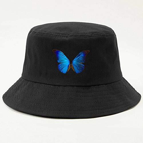 XIAOPANG Gorro de mariposa Cubo Sombrero Plegable Sombreros Hombres Mujeres Sombreros Algodón Pesca Caza Pescador Playa al aire libre Gorras Sombreros