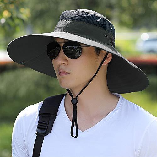 LZMZ2222 Sun Hat/Sombrero de Senderismo para Hombre Sombrero de Pescador de Verano para Hombres Sombrero de Secado rápido para Mujer Sombrero de Sol para Hombre, Gorra de Pesca, H