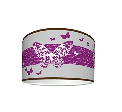 Lámpara Infantil pantalla'Mariposas deluxe' KL17   para la habitación de los niños   como lámpara de pie o lámpara colgante plafón   STIKKIPIX