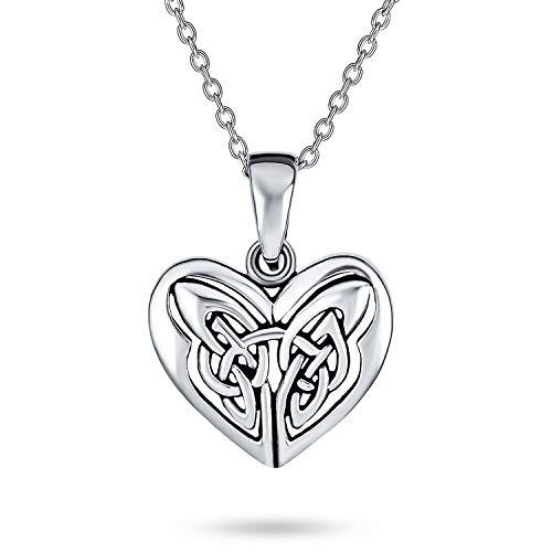 Amor Triquetra Celta Nudo Mariposa Collar Colgante Corazón De Mujer Para Adolescente 925 Plata De Ley 925