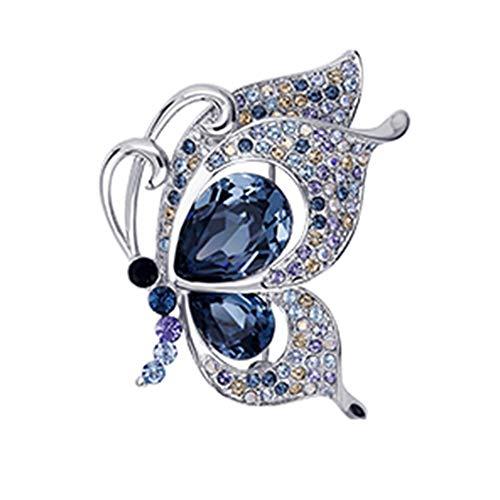ZXXYTA Broche de Mariposa de Alta Gama, Ramillete de Cristal de Lujo para Mujer, Accesorios de Traje de Alta Gama