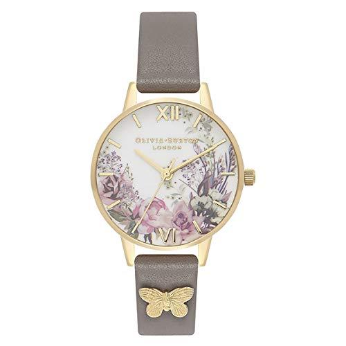 Olivia Burton Reloj Analógico para Mujer de Cuarzo japonés con Correa en Plástico OB16EG109