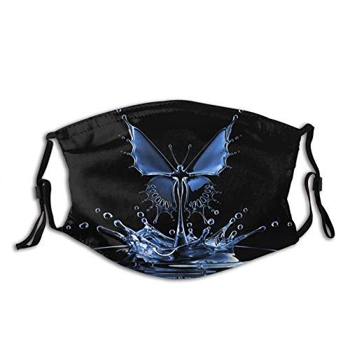 Mascarillas de mariposa para adultos Pasamontañas reutilizables lavables con filtros cubierta facial bandana pasamontañas, Mariposa B1, Talla única